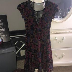 Short Sleeve Mini Skater Dress
